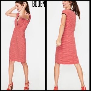 Boden Rosehip Wave Red & White Jersey Dress